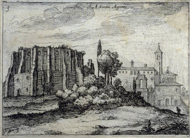 A Santa Agneze (At Santa Agneze), pl. 3 from the series Alcune vedute et prospettive di luoghi dishabitati di Roma (Some Views and Perspectives of the Uninhabited Places of Rome)