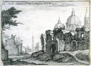 Dalla Saburra a Sta. Maria Magiore[sic] da j Zengari (From Saburra to S. Maria Maggiore from the Zengari), pl. 16 from the series Alcune vedute et prospettive di luoghi dishabitati di Roma (Some Views and Perspectives of the Uninhabited Places of Rome)