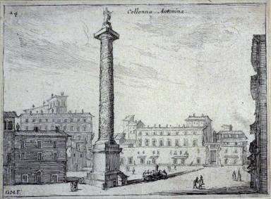 Collonna Antonina (Antonine Column), pl. 24 from the series Alcune vedute et prospettive di luoghi dishabitati di Roma (Some Views and Perspectives of the Uninhabited Places of Rome)