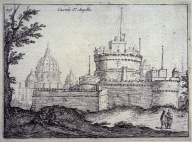 Castelo St. Angelo (Castel SantAngelo), pl. 29 from the series Alcune vedute et prospettive di luoghi dishabitati di Roma (Some Views and Perspectives of the Uninhabited Places of Rome)