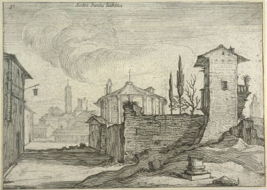 Sotto Santa Sabina (Below S. Sabina), pl. 31 from the series Alcune vedute et prospettive di luoghi dishabitati di Roma (Some Views and Perspectives of the Uninhabited Places of Rome)