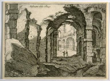 Anfiteatro della Collizeo (Amphitheater of the Coliseum), pl. 46 from the series Alcune vedute et prospettive di luoghi dishabitati di Roma (Some Views and Perspectives of the Uninhabited Places of Rome)