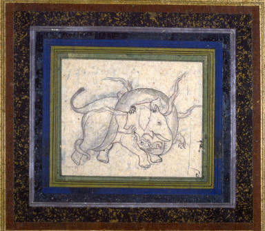 Untitled (Battle Between Elephant and Serpent)