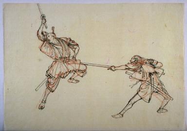 Two Warriors in Battle