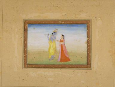 Krishna Fluting for Radha