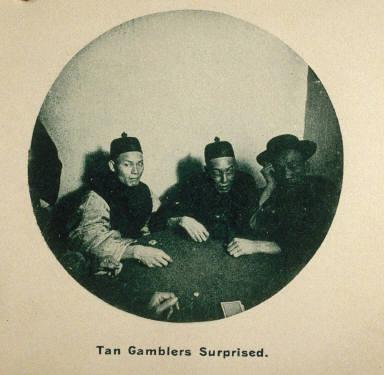 Photographic Album: Chinatown, San Francisco: Tan Gamblers Surprised