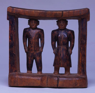 Head Rest in the form of a Missionary Couple