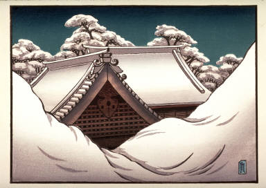Snow on Temple Roof