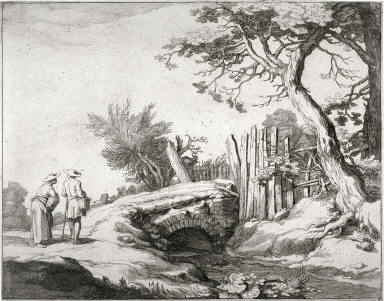 Farmhouse with Figures, fourteenth plate from a series of fifteen Farmhouses with Figures