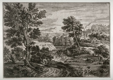 Two Lovers in a Landscape, from a set of six