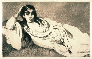 Odalisque, after a painting by the artist, 1862