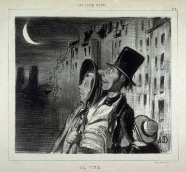 La vue no 2 of the series Les cinq sens published in La Caricature 4 August 1830