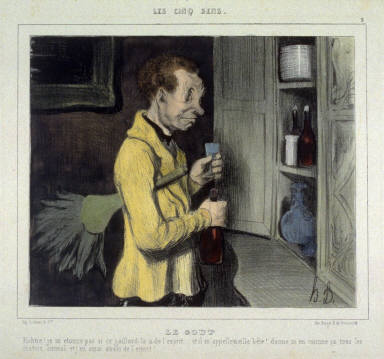 Le goût no. 3 of the series Les cinq sens published in La Caricature 18 August 1839