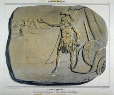 LA COL?RE DAGAMEMNON, no. 8 from the series HISTOIRE ANCIENNE., published in Le Charivari 25 June 1842