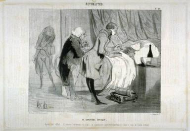La dernière épreuve no. 86 from the series Actualités published in Le Charivari, 23 January 1842