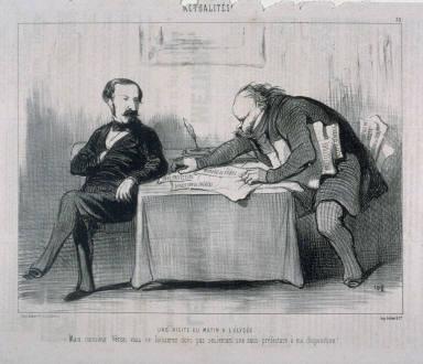 Une visite du matin à l'Elysée no. 33 of the series Actualités published in Le Charivari 21 November 1849