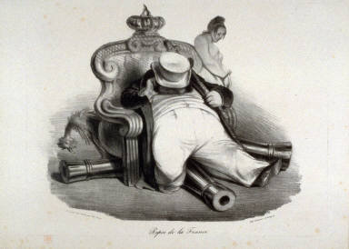 Repos de la France plate 417 published in La Caricature 28 August 1834