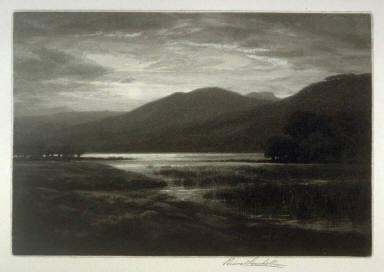 Moonrise, Rydal Water