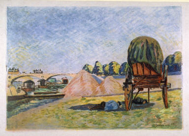 Paysage au Chariot (Field with Haycart)