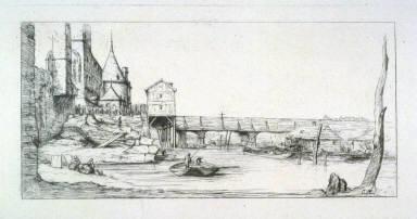 Passerelle du Pont-au-Change, Paris, après L'incendie de 1621