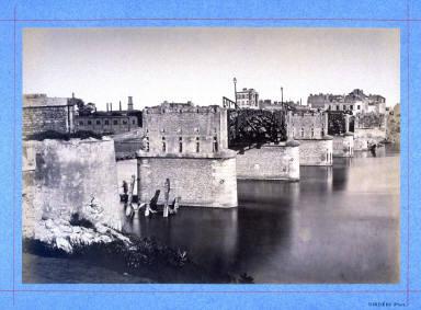 Pont dAsnières, from a series showing the destruction of Paris during the Commune