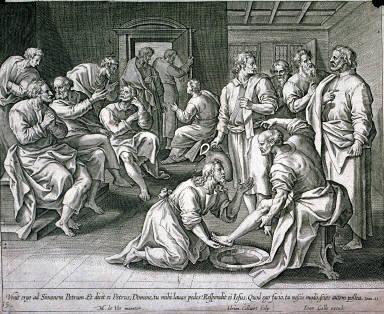 Jesus washing the disciple's feet