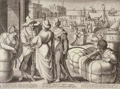 Mercator taking leave of his family