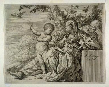 La Vierge a l'oiseau (The Holy Family and the bird)