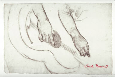 Recto: Study of Hands Verso: Study of Feet