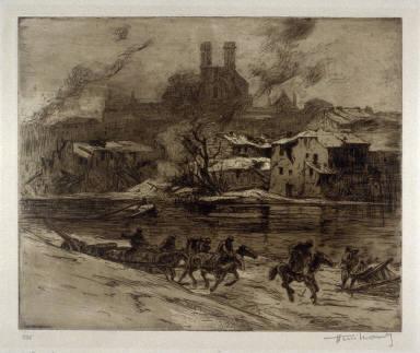 Verdun sous la neige