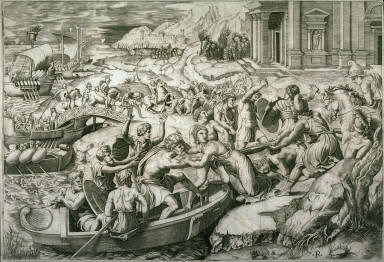 The Abduction of Helen, after the engraving by Marcantonio Raimondi
