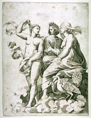 Juno, Ceres, and Psyche, after Raphael