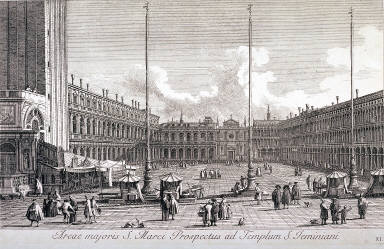 Piazza San Marco, looking towards S. Geminiano; pl.11 from Part III of the series Urbis Venetiarum Prospectus Celebriores Ex Antonio Canal...