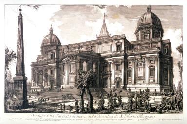 Veduta della Facciata di dietro della Basilica di S. Maria Maggiore( View of the rear façade of Sant Maria Maggiore) from Vedute di Roma (Views of Rome)