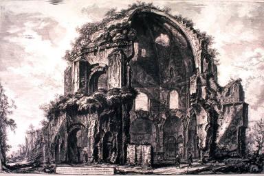 Veduta del Tempio ottangolare di Minerva Medica (View of the octangular Temple of Minerva Medica) from Vedute di Roma (Views of Rome)