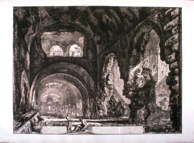 Veduta interna della Villa di Mecenate (Interior View of the Villa of Maecenas) from Vedute di Roma (Views of Rome)