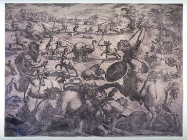 Combat Between Centaurs and Various Animals