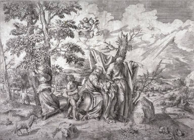 The Rest on the Flight into Egypt, after Titian