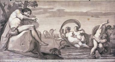 Polyphemus following Acis and Galatea, after Pietro da Pietri after Sisto Badalocchio