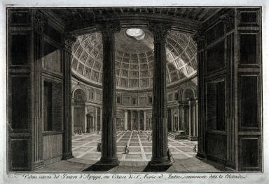 Veduta Interna del Panteon d'Agrippa (Interior view of the Pantheon)