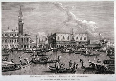 The Bucentaro on Ascension Day, after Canaletto