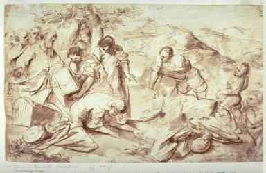 Recto:Laban Seeking His Idols Verso:Landscape