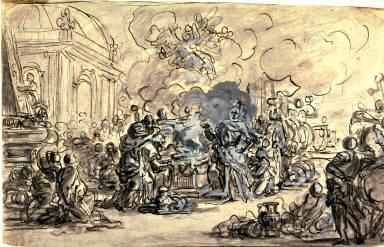Recto:Sacrifice of IphigeniaVerso:Sacrifice of Iphigenia