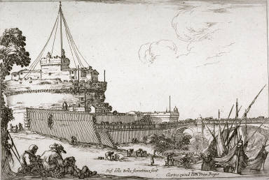 Le chateau et le pont Saint-Ange (The Castle Sant'Angelo and the Bridge) from the series Varie Figure