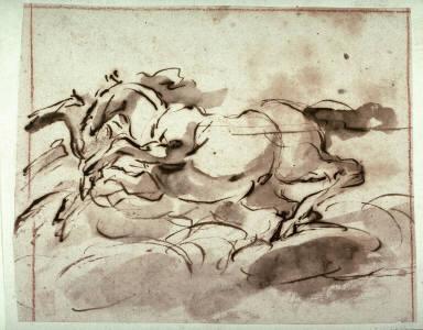 Horses, study for the ceiling fresco Aurora (1621-1623) in the Casino Ludovisi, Rome