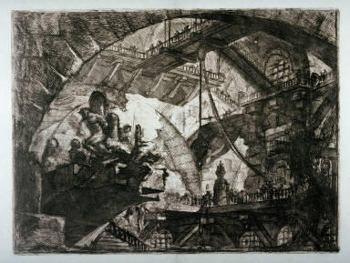Prisoners on a Projecting Platform, plate X, from the series Carceri