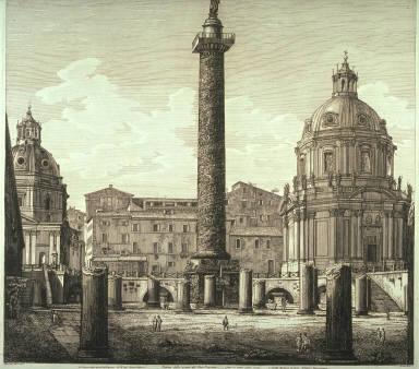 Veduta dello scavo del Foro Trajano fatto in questi ultimi tempi (View of the recent excavations at Trajan's Forum)