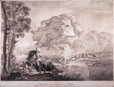 Battle Scene, after Salvatore Rosa