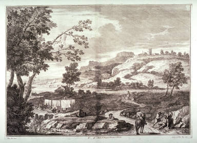 Plate 4 from the series Racolta di 12 paesi...dal Marco Ricci (Collection of Twelve Landscapes...by Marco Ricci)