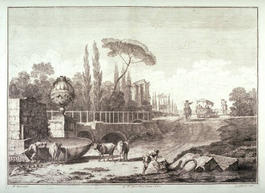 Plate 6 from the series Racolta di 12 paesi...dal Marco Ricci (Collection of Twelve Landscapes...by Marco Ricci)